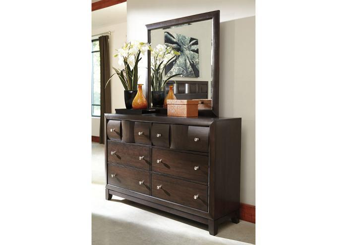 Home Furniture And Accessories Chanella Dark Brown Mirror