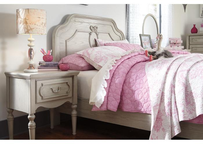 Abrielle Gray 1 Drawer Nightstand