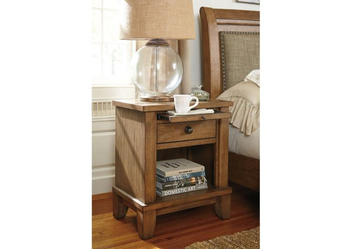 Home Furniture And Accessories Tamburg 1 Drawer Nightstand