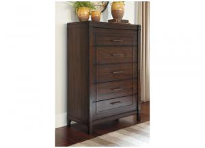 Timbol Warm Brown Five Drawer Chest