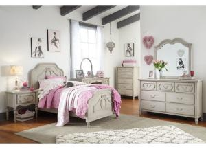 Abrielle Gray Twin Panel Bed