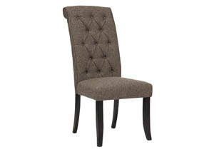 Tripton Medium Brown Dining Upholstered Side Chair