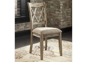 Mestler Antique White Upholstered Side Chair