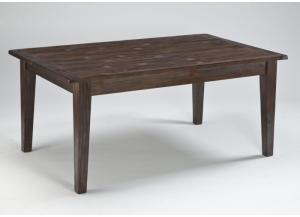 Mestler Dark Brown Rectangular Dining Table