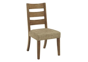 Tamburg Grayish Brown Dining Upholstered Side Chair