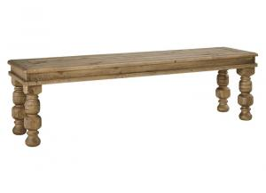 Trishley Light Brown Large Dining Room Bench