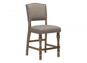 Tanshire Grayish Brown Upholstered Barstool