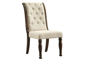 Porter Rustic Brown Dining Upholstered Side Chair