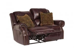 Walworth Black Cherry Reclining Power Loveseat