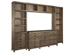 Keeblen Grayish Brown Extra Large Entertainment Center